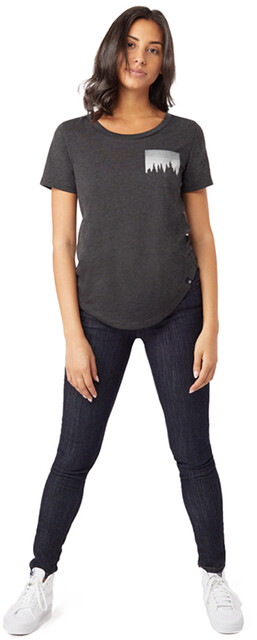 tentree Juniper T shirt avec poche Femme, meteorite black